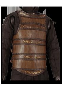 Keltische Lamellar-Lederrüstung, Braun