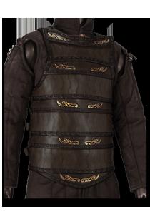 Keltische Lamellar-Lederrüstung, Schwarz